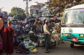 53. Mandalay market traffic jam